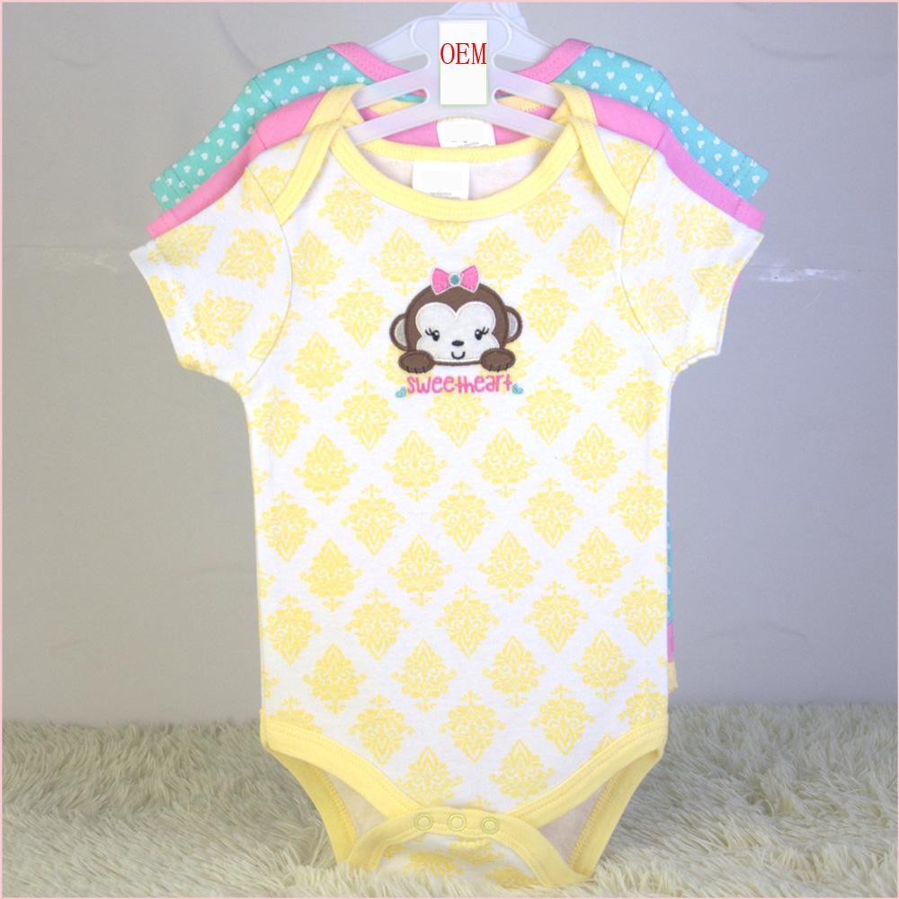 newborn baby bodysuits 3 pk set OEM factory China 1