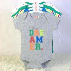 baby 4 pack bodysuits 100% cotton baby garments manufacturer