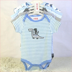 China baby garments factory offer baby 5 pk bodysuits OEM orders