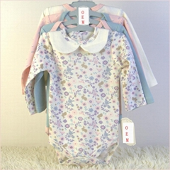 China baby products factory offer infant 4 pack long sleeve bodysuits