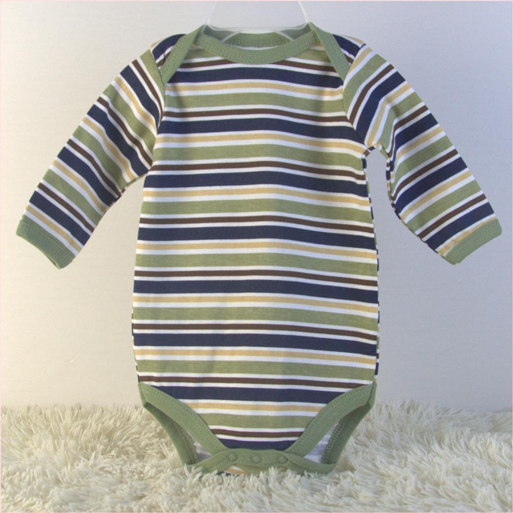 newborn baby 5 pack long sleeve bodysuits China baby garments OEM factory  4