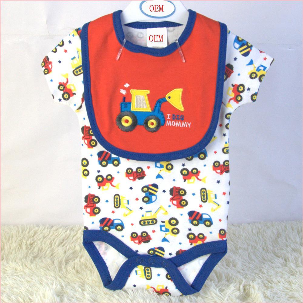 baby set infant bodysuit and bib 2 piece set china baby garment factory  1