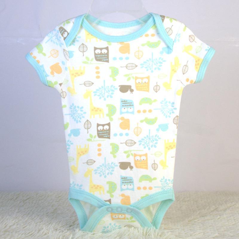 baby bodysuit bib and pants 3 piece set China OEM baby garment factory 3