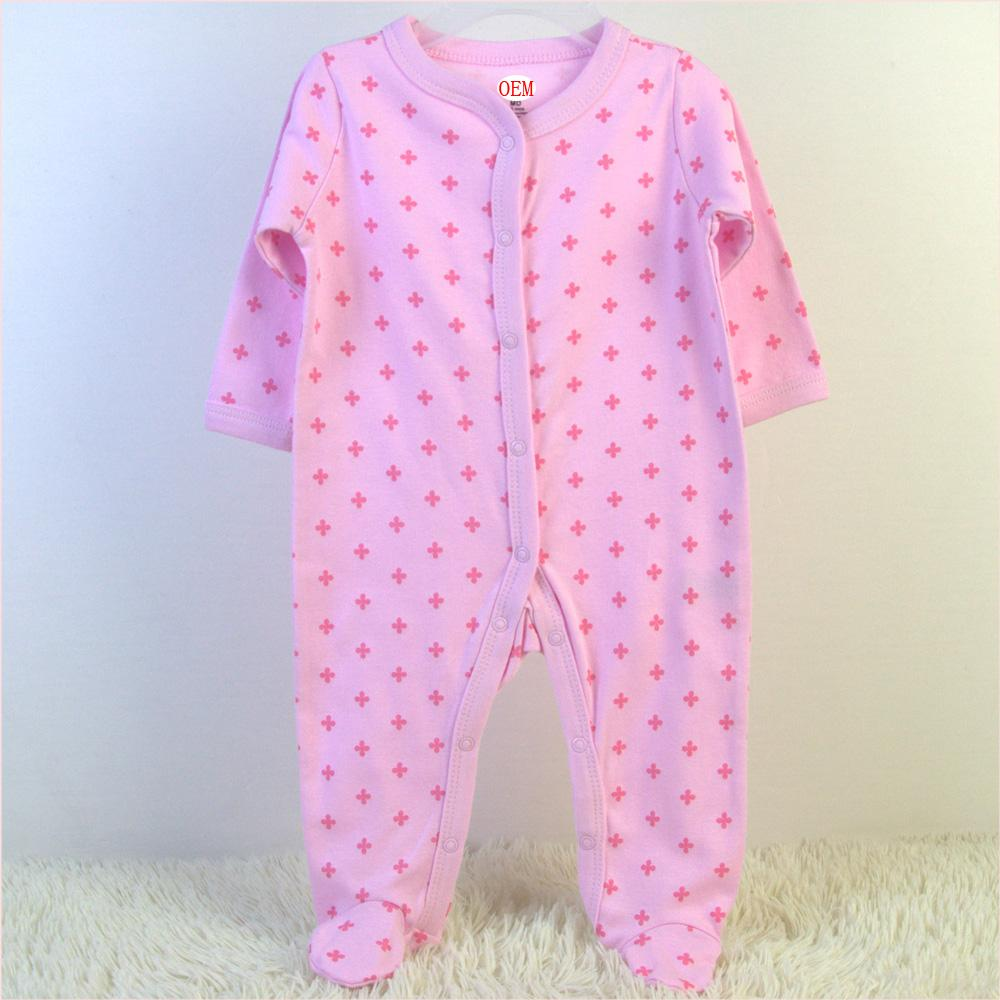 China baby garment OEM order factory offer baby sleepers 3 pack set 5