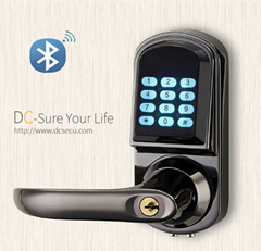 Architectural Hardware Bluetooth Door Locks Lever Handle Smart Electronic Digita