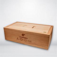 原木雪茄盒