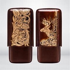 浮雕工藝雪茄保濕皮套
