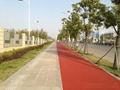 邯鄲景區彩色路面慢行道邯鄲噴塗彩色校園跑道 2