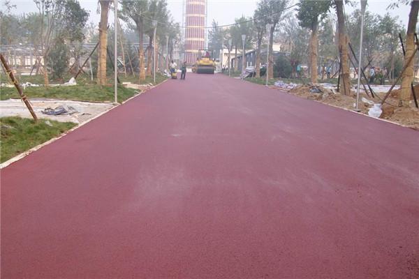 駐馬店彩色瀝青人行道鋪設駐馬店路面改色煥然一新 4