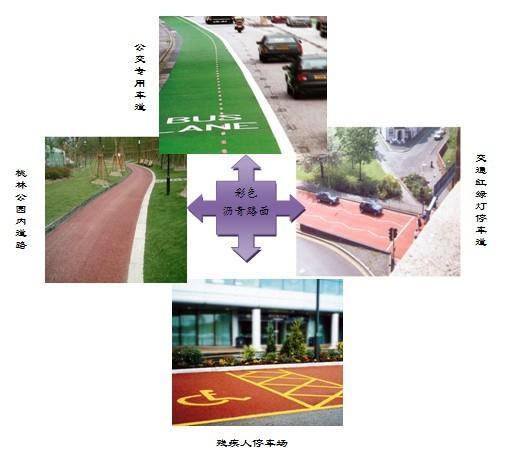 咸陽彩色瀝青人行道咸陽彩色路面施工造價 3