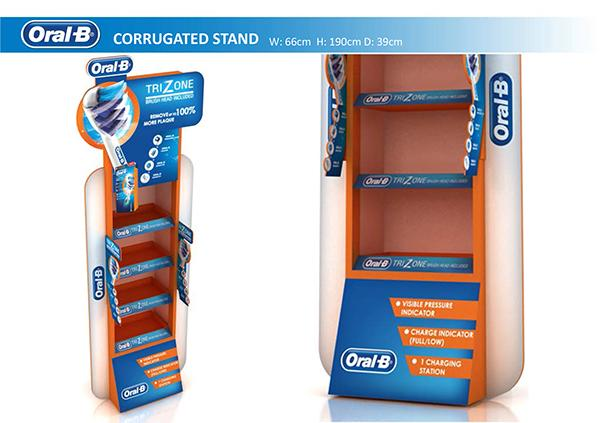 Factory Custom Design Paper Display Shelf Display Rack 1