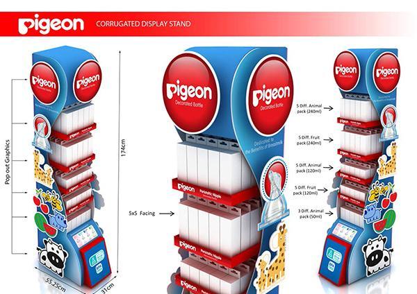 Factory Custom Design Paper Display Shelf Display Rack 3