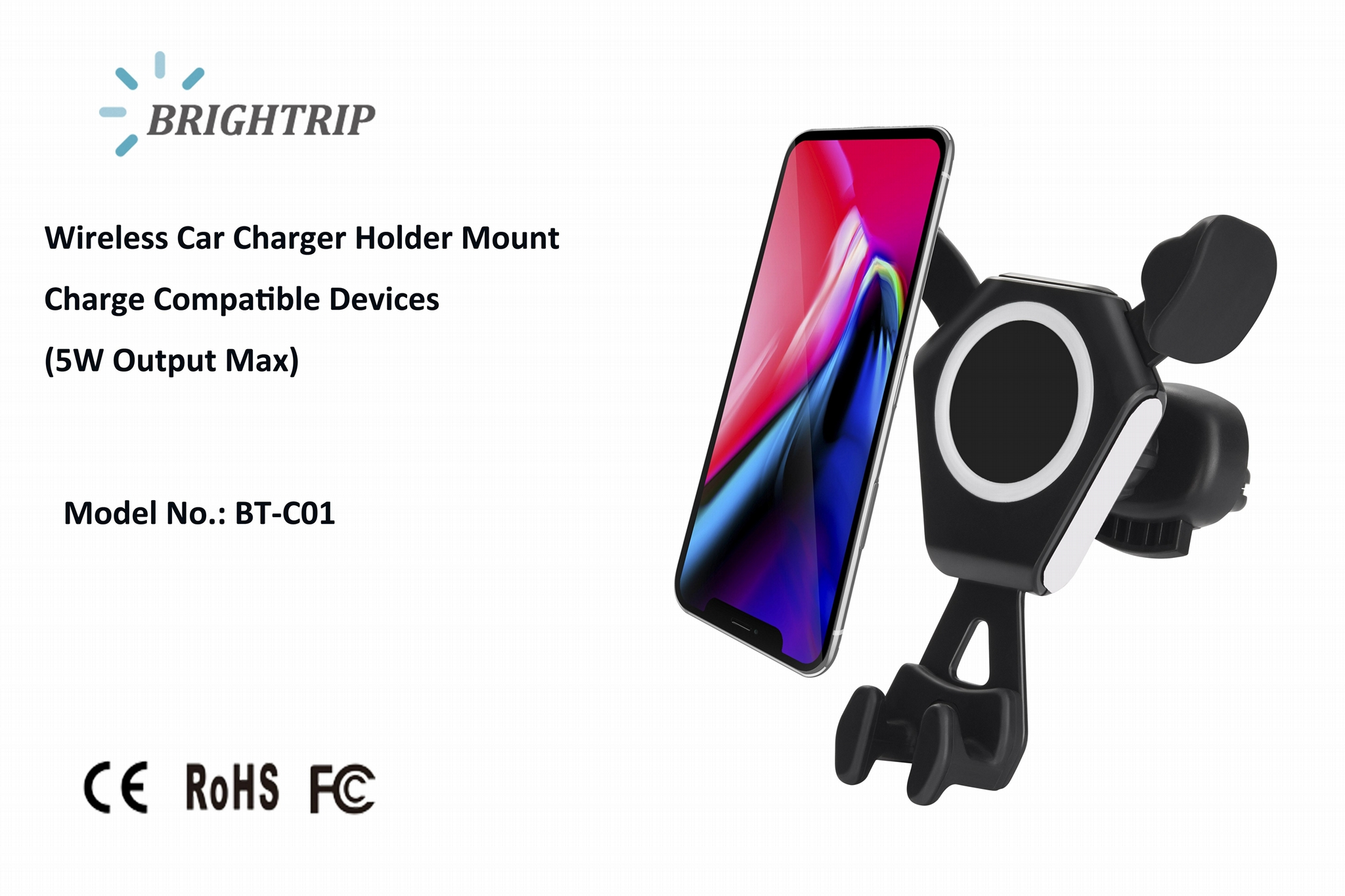 QI Wireless Car Charger (5W Output Max) 1