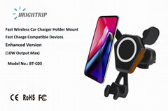 QI Wireless Car Charger (10W Output Max, upgraded version)