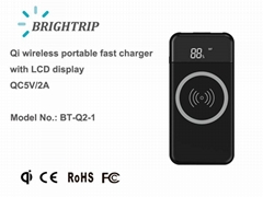 Wireless Charger with LCD screen and