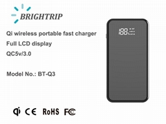 Wireless Charger with full size LCD