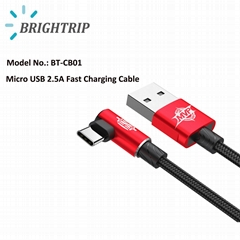 Reversible MVP Elbow Micro USB Cable