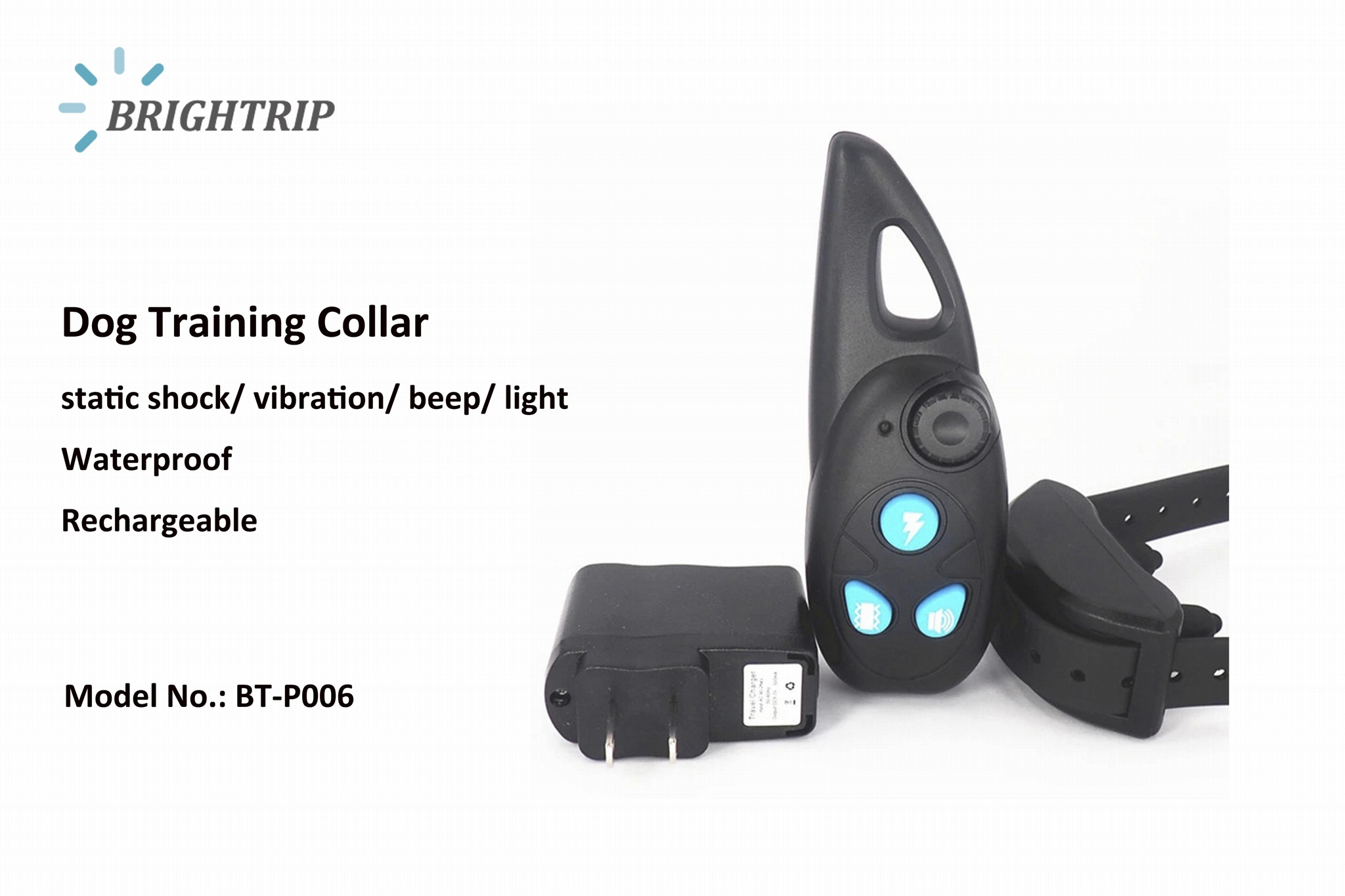 Romote Waterproof and Rechargeable Dog Training Collars 330 Yard 500  1
