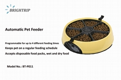 6 Meal Automatic Pet Feeder  with Programmable Timer, Light Blue