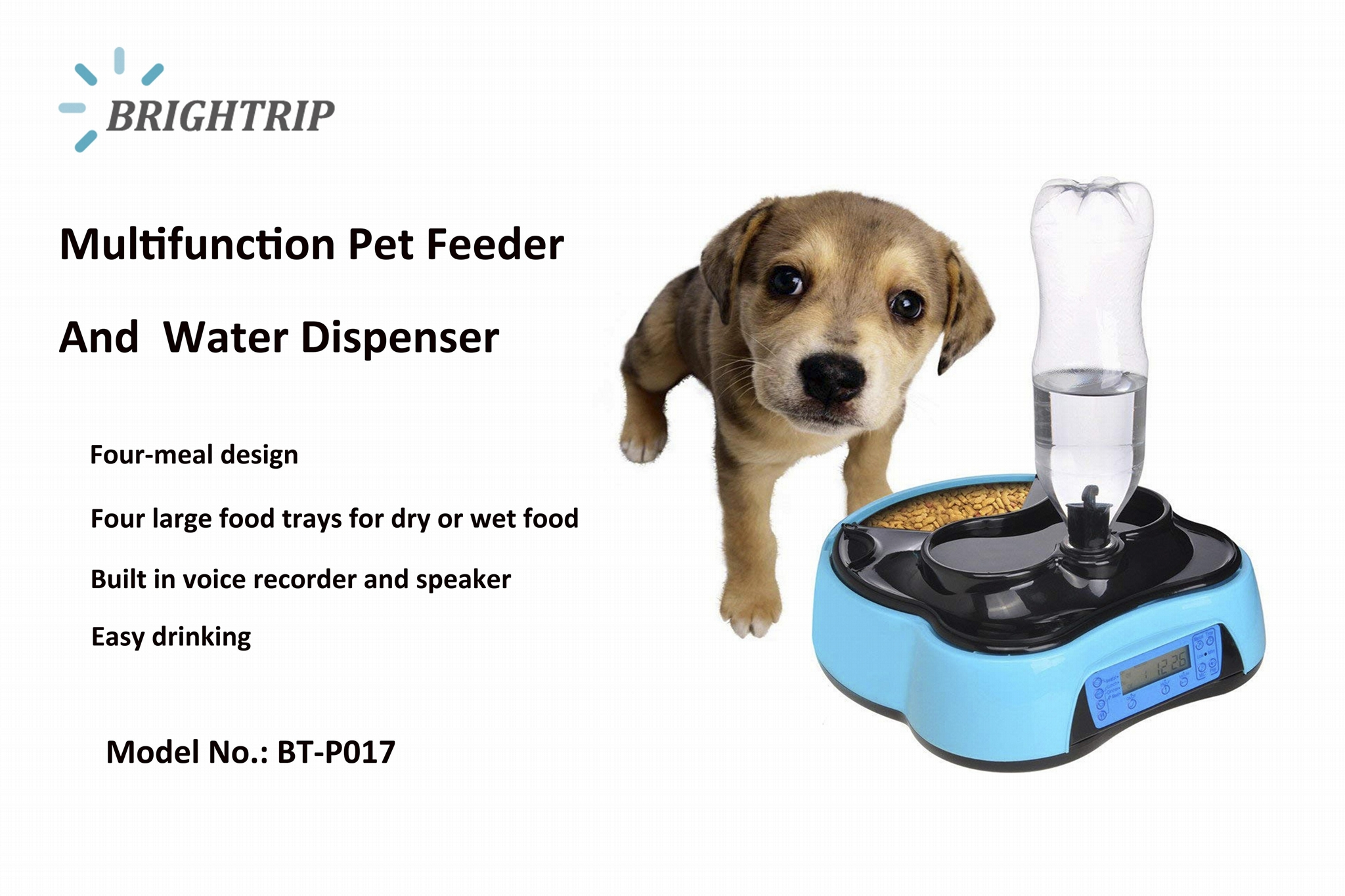 Multifunction Automatic Feeder Pet Food and Water Dispenser 1