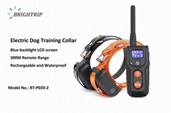 Amazon Best Seller Waterproof Electric Dog Shock Collar with Remote Two Collars