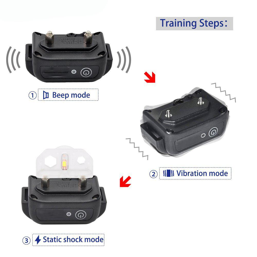 Amazon Best Seller Waterproof Electric Dog Shock Collar with Remote Two Collars  2