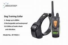 Amazon Top Quality 800M Waterproof Rechargeable LCD Dog Training Collar