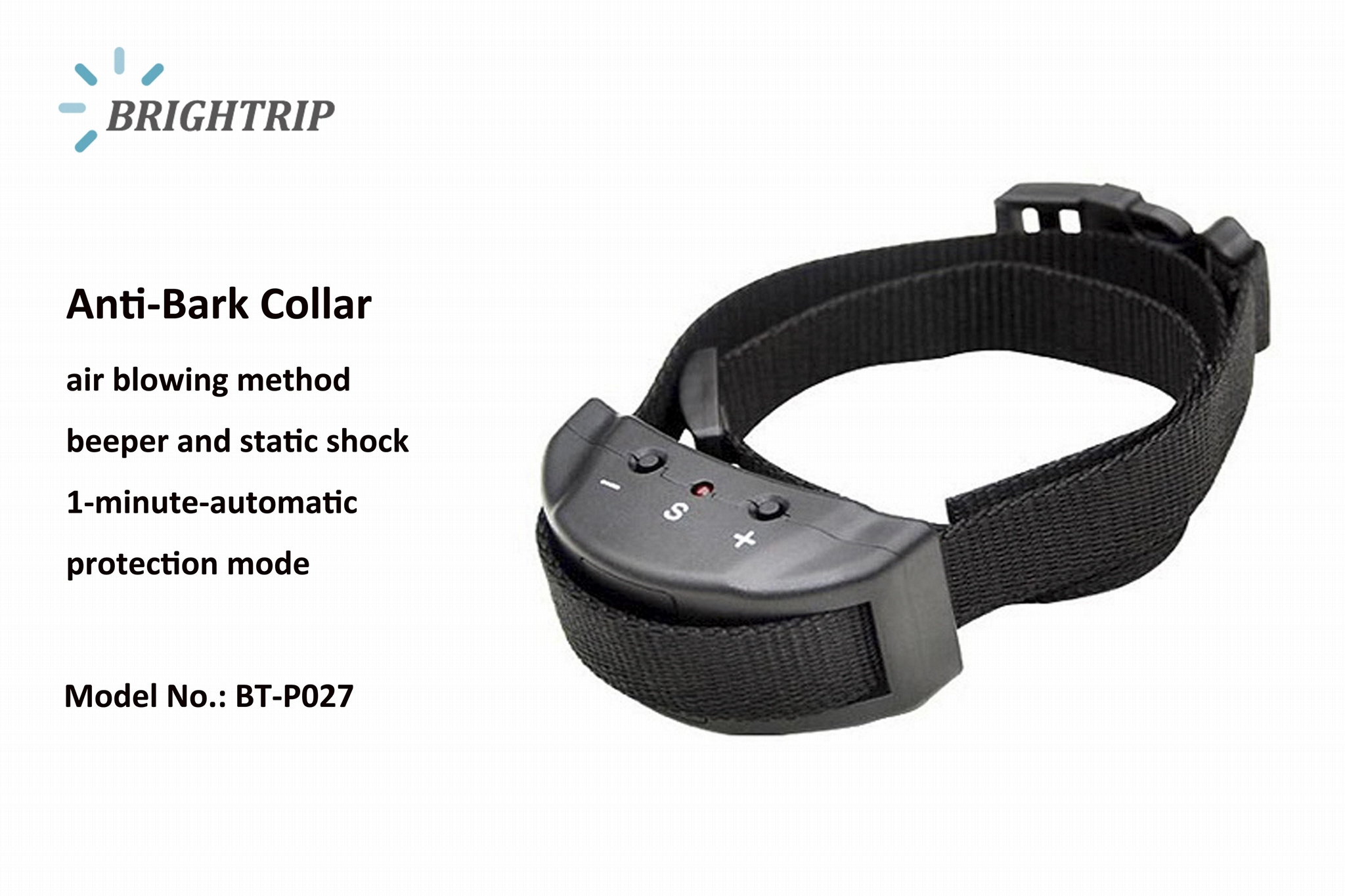 Anti Bark Collar Electronic Barking Dog Alarm Dog Training Collar BT-P027 1