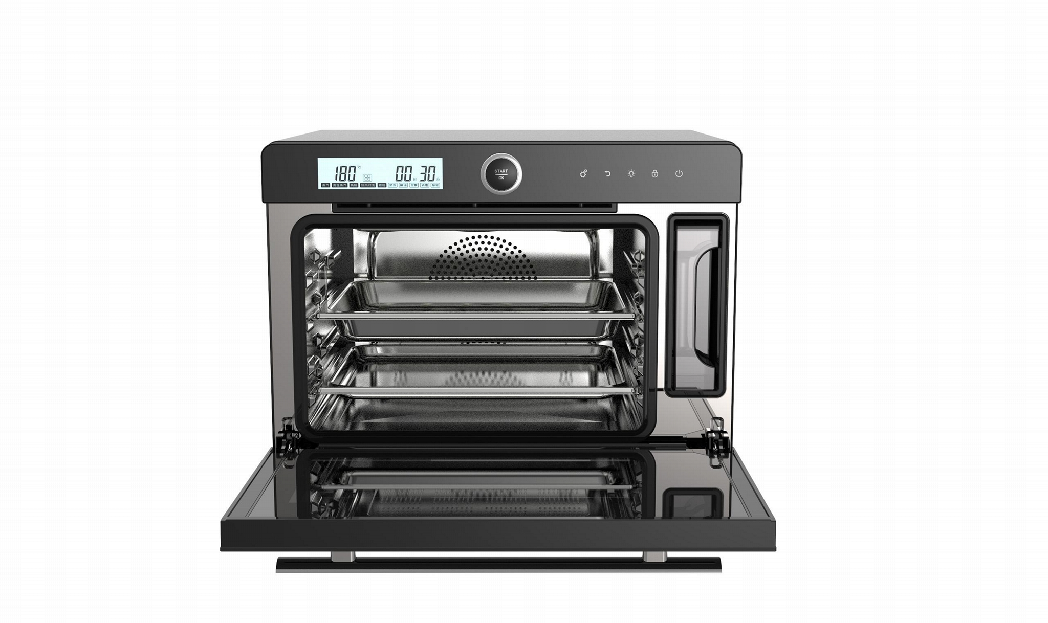 32L intelligent control desktop electric steam  oven 2