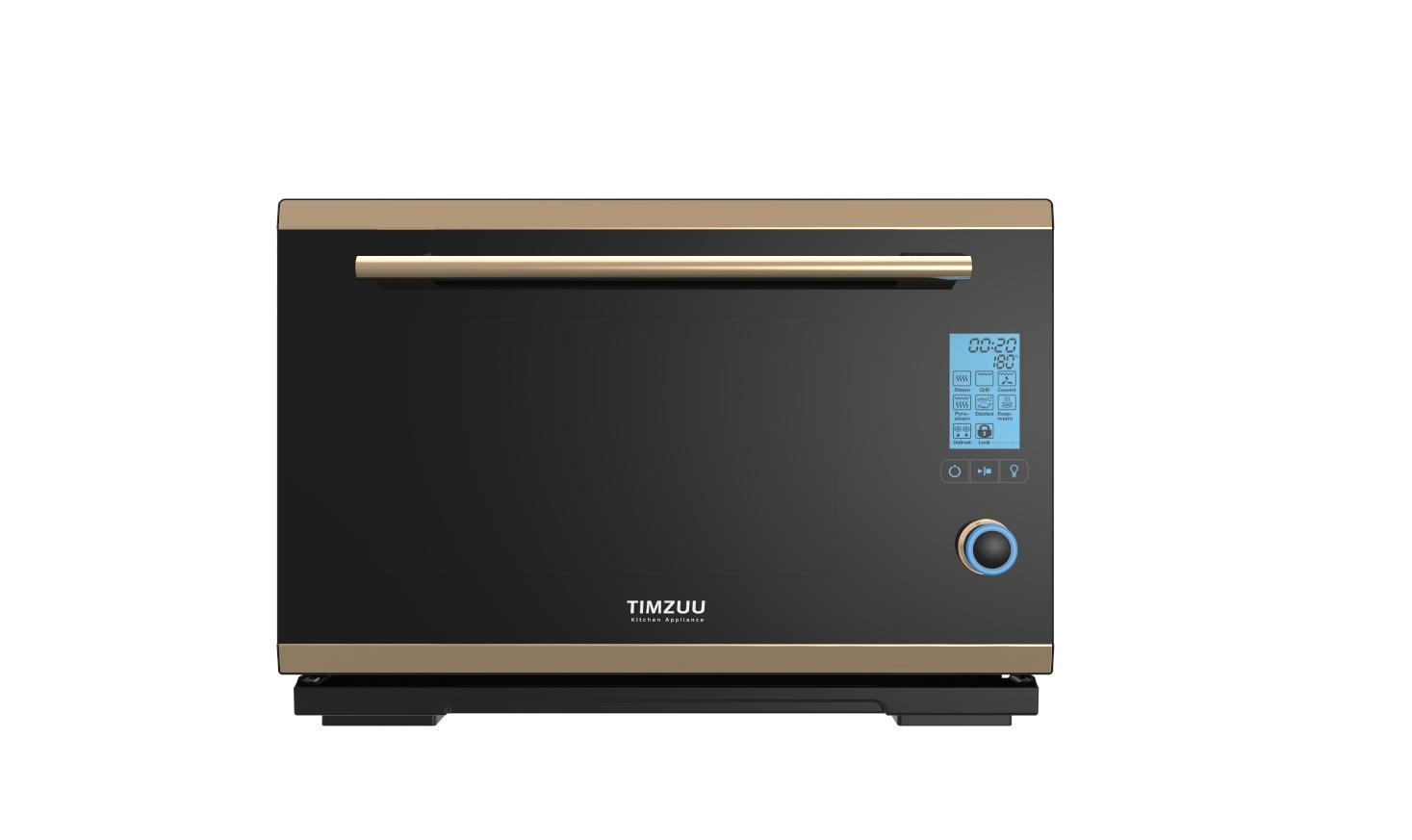 28L knob touch screen desktop  electric steam  oven 1