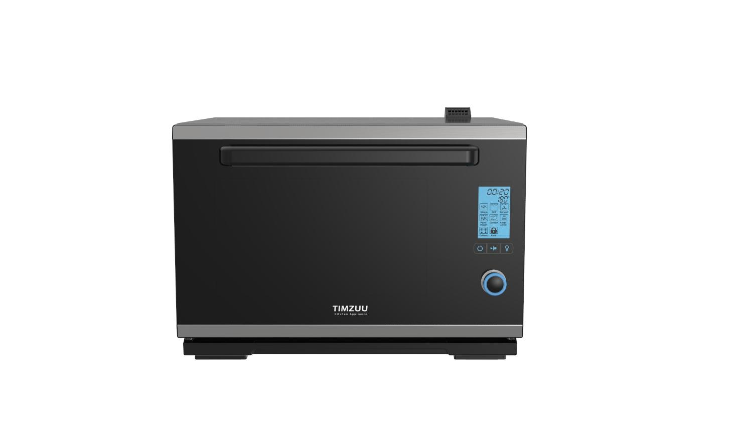 28L knob touch screen desktop  electric steam  oven 4
