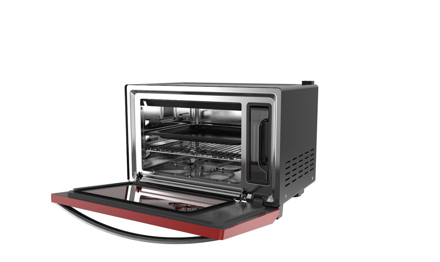 25L knob/ touch screen desktop steam oven 4