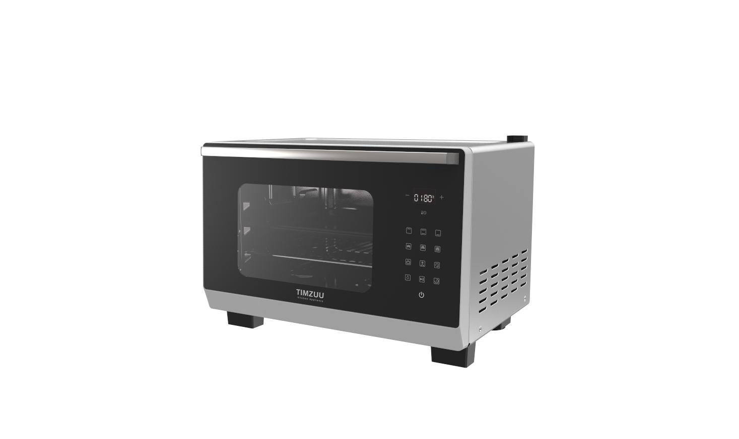 25L knob/ touch screen desktop steam oven 5