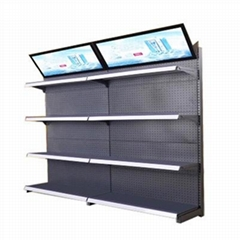 priced supermarket display stand rack shelving equipment