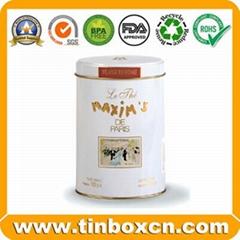 Metal Tea Canister Tea Can for Metal Food Packaging Round Tea Tin Box