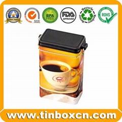 Rectangular Tin Metal Coffee Box Coffee Can Coffee Tin