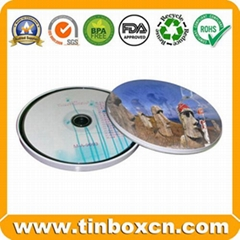 Round CD Tin Box for Metal CD Bag Tin CD Case