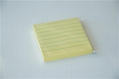 3 inch Pastel yellow printed sticky notes with line