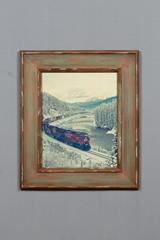 装饰相框实木相框火车相框