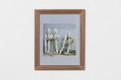 北欧风格实木相框仙人掌相框