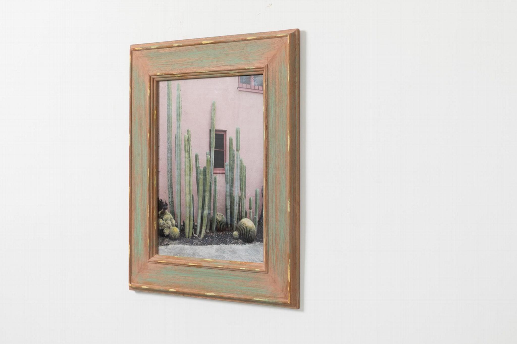 仙人掌相框实木相框北欧风格 2