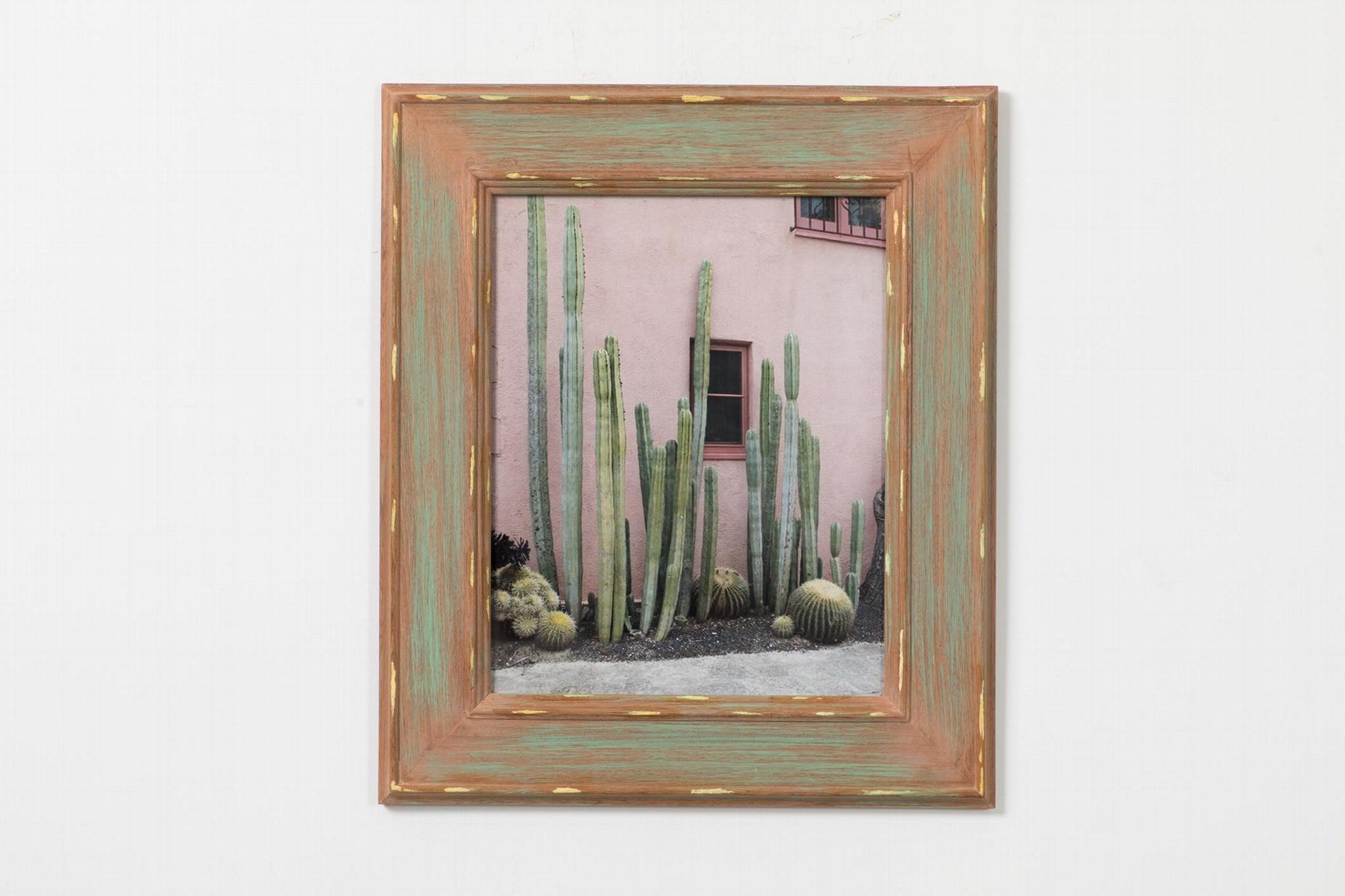 仙人掌相框实木相框北欧风格 1
