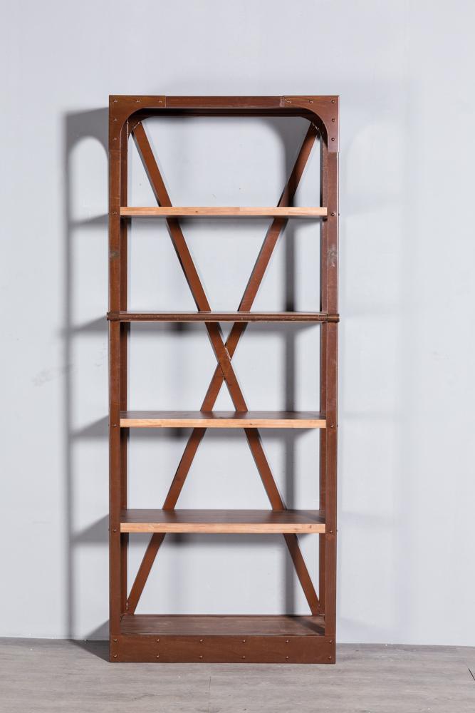 工业复古实木铁艺书架 3