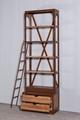 工业复古实木铁艺书架 8