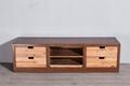 Industrial retro solid wood stacks 2 4