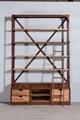 Industrial retro solid wood stacks 2 6