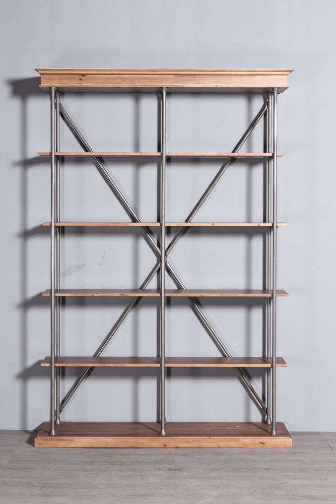 Industrial retro bookshelf