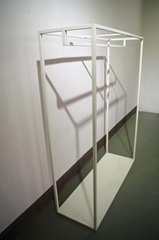服装展示架高架墙上展示架白色