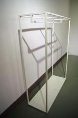 服裝展示架高架牆上展示架白色