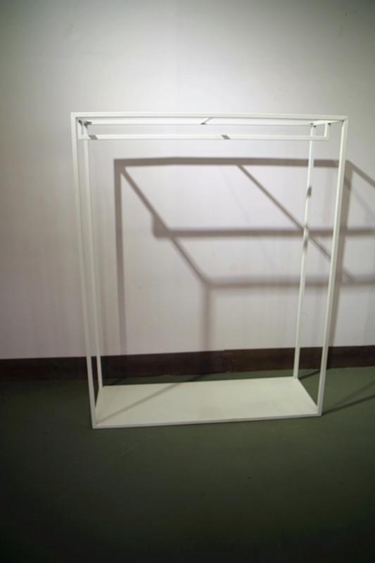服裝展示架高架牆上展示架白色 5